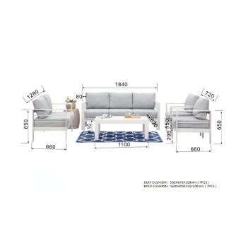 מערכת ישיבה אלומיניום גודלן מבית H.KLEIN