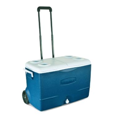 צידנית 43 ליטר כולל גלגלים 5 ימים שמירת קור תוצרת rubbermaid