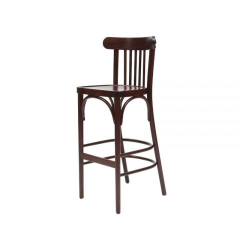 כיסא בר דגם יבניאל מושב עץ בלבד