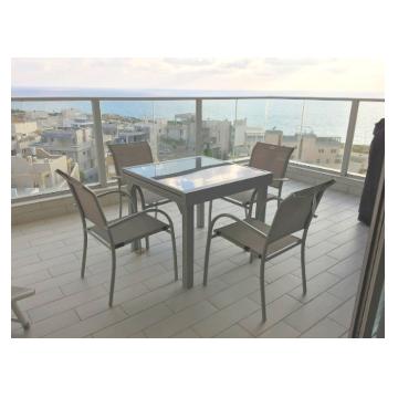 שולחן אלומיניום נפתח 90*90/180כולל 4 כסאות תואמים מבית H.KLEIN