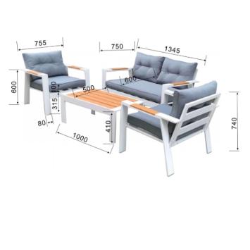 מערכת ישיבה אלומיניום פטון מבית H.KLEIN