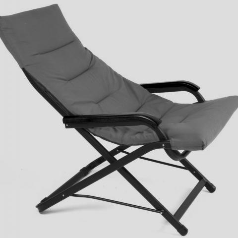 כסא נוח מתנדנד ידיות עץ דגם גמא תוצרת איטליה מבית H.KLEIN