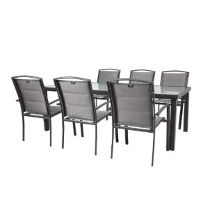סט  מאלומיניום הכוללת שולחן בגודל 210/105 ס