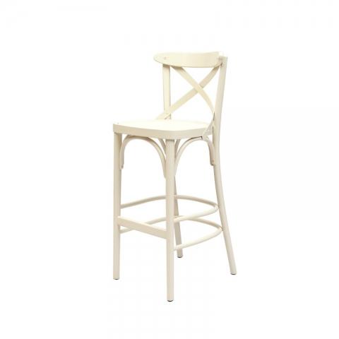 כיסא בר דגם אקסטרא מושב עץ בלבד
