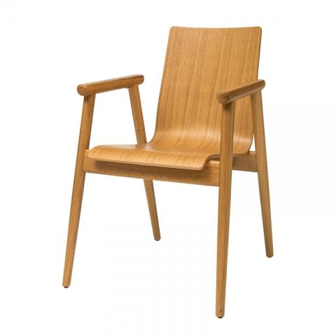 כיסא פיבי מושב עץ
