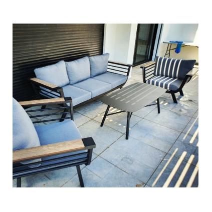 מערכת ישיבה אלומיום תלת מושבי דגם סנפיר מבית H.KLEIN