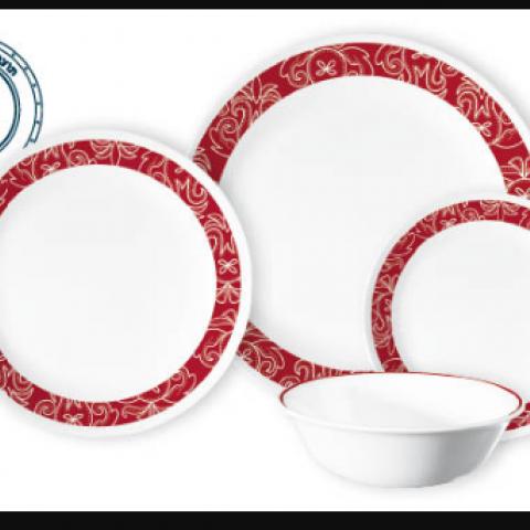 סט 18 צלחות קורנינג CORELLE® - Bandhani ניתן לרכוש בנפרד
