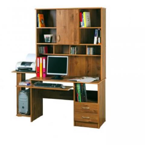 רהיטי יראון דגם 220 - שולחן מחשב עם ספריה