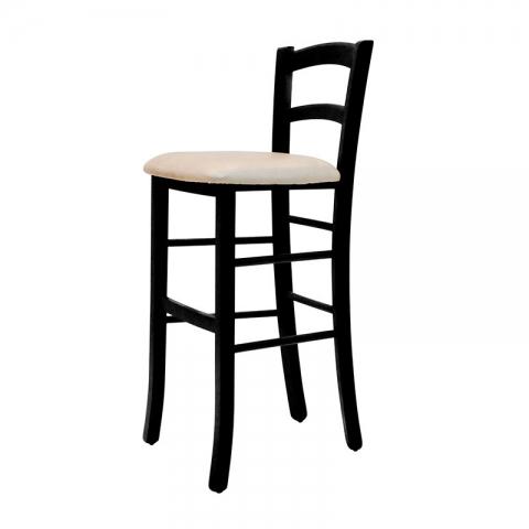 כיסא בר דגם קאנטרי מרופד