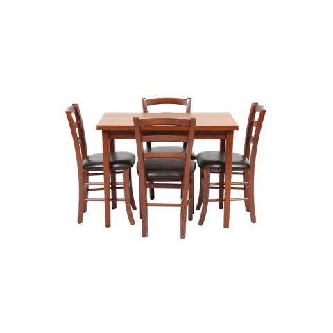 שולחן מטבח מעץ דגם יניב 5G גודל 80*60 ( ללא כסאות )