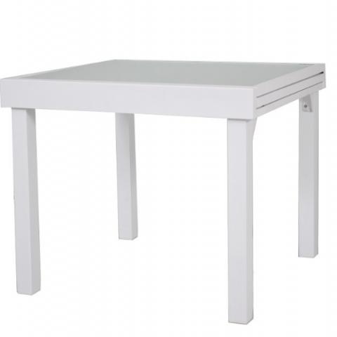 שולחן נפתח מאלומניום  בגודל 90/90-180 ס