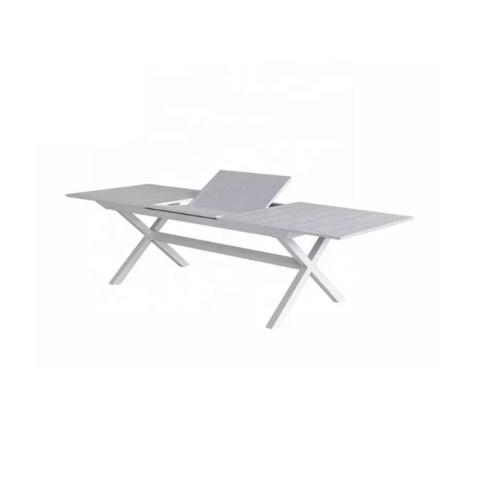 """שולחן אלומיניום נפתח לגינה דגם סוסיא 100-216/297ס""""מ כולל 6 כסאות מרופדים מבית H.KLEIN"""