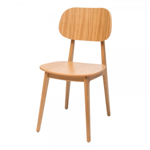 כיסא דגם לולה עץ אלון  מושב עץ בלבד