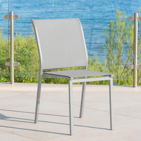 כיסא אלומניום ללא ידיות