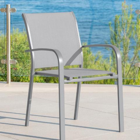כיסא אלומניום עם ידיות