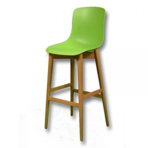 כיסא בר מעץ דגם יונתן קונוס