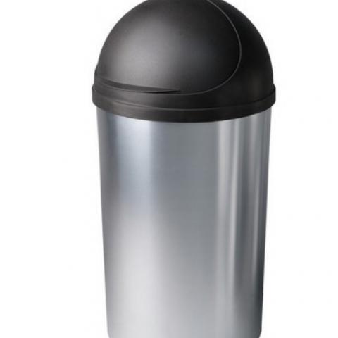 פח אשפה ומיכסה נייד הימליה דמוי נירוסטה 60 ליטר - כתר