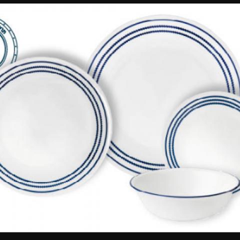 סט 18 צלחות קורנינג CORELLE® - Jett Blue