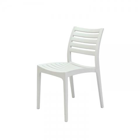 כיסא איריס יציקת פלסטיק באפור או לבן