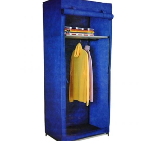 ארון בגדים עשוי מבד עמיד במיוחד קל לפירוק ולניוד בצבע כחול