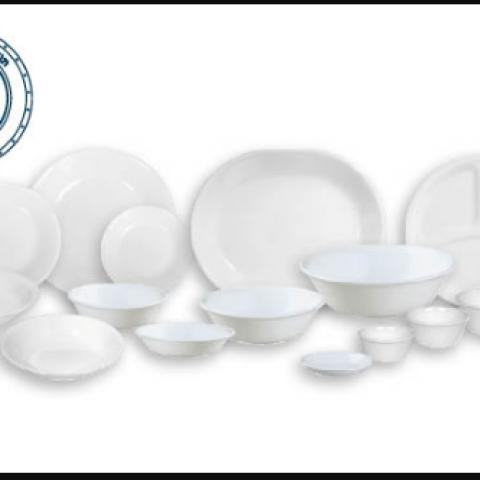 סט 18 צלחות קורנינג  CORELLE® - Winter Frost White - ניתן לרכוש בתפזורת