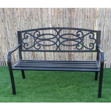 ספסל ישיבה זוגי ממתכת דגם מורן מבית H.KLEIN