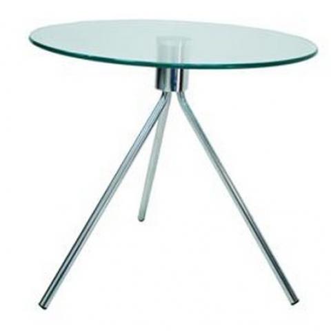 שולחן זכוכית מחוסמת בקוטר 50 ס