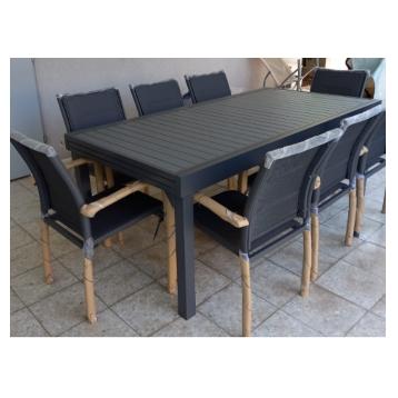 שולחן נפתח 320 רוחב מטר כולל 6 כסאות
