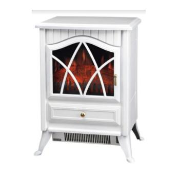 תנור קמין שחור או לבן  FIX 2902 1800W