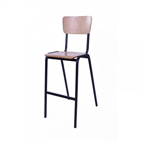 כיסא בר דגם שרתון עץ פורניר