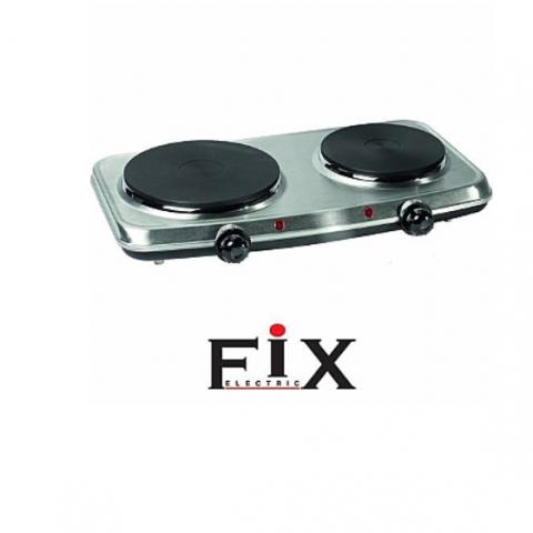 כירה חשמלית כפולה נירוסטה תוצרת FIX