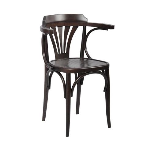 כיסא מניפה מושב עץ וצבע ונגה בלבד