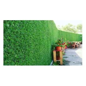 גדר קיר מצופה  דשא סינטטי דגם  יהלום   1 מטר / 10 מטר