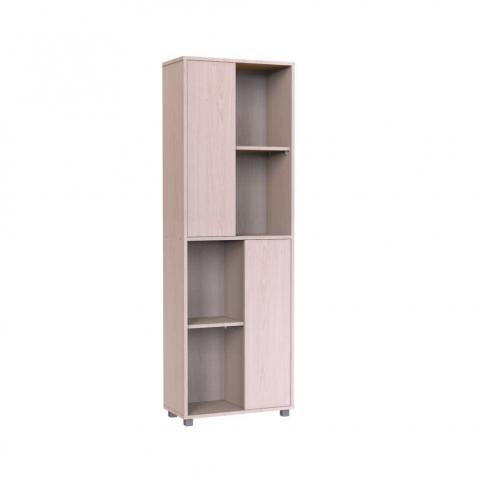 ארונית בעלת מדפים לאחסון פתוח ושתי דלתות לאחסון סגור במראה נקי ומודרני רהיטי יראון