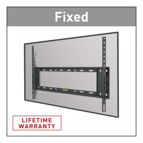 דגםE400 זרוע ברקן למסכים שטוחים וקעורים קבועה עד 90