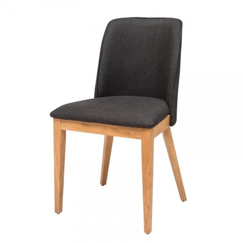 כיסא מרופד דגם אפרת עץ אלון