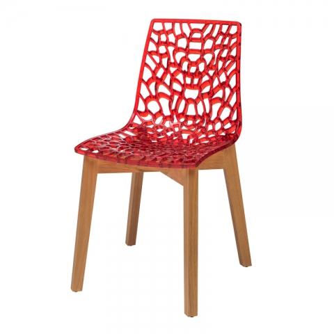 כיסא דייזי רגל עץ צבע אלון ( בוק )