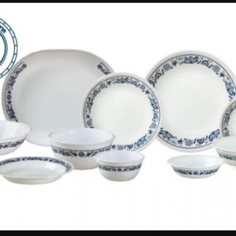 סט 18 צלחות קורנינג CORELLE® - Old Town Blue  ניתו לרכוש בתפזורת