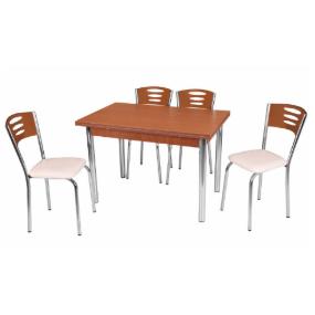 פינת אוכל שולחן נפתח כולל 4 כסאות דגם שרון מבית H.KLEIN