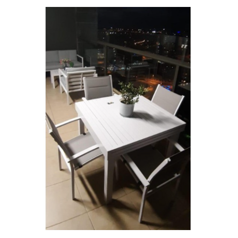 סט ישיבה לגינה שולחן + 4 כסאות יהלום