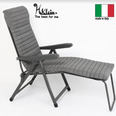 כיסא נוח מתקפל כולל מיזרון פסים ומצבים דגם רילקס תוצרת איטליה