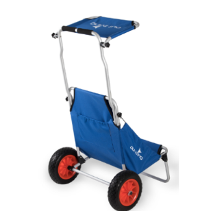 עגלה / כסא אלומניום מתקפל עם גלגלים