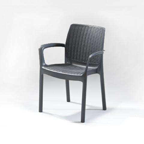 כסא ראטן כתר פלסטיק דגם באלי