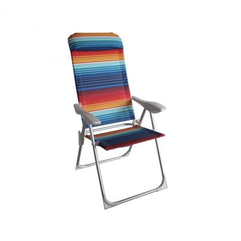 כיסא אלומניום גובה ישיבה רגיל 5 מצבי שכיבה
