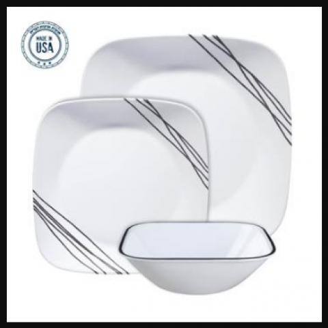 סט 18 צלחות קורנינג CORELLE® - Simple Sketch ניתן לרכוש בתפזורת