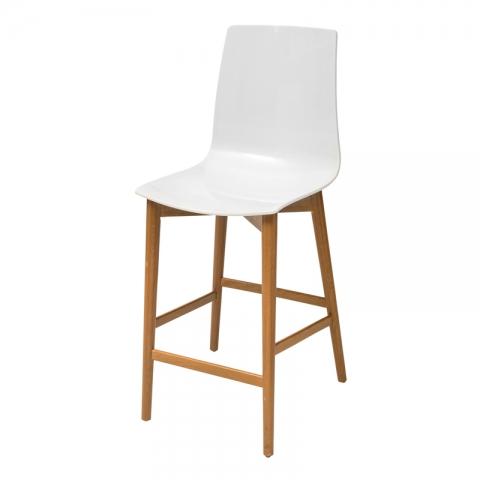 כיסא בר מעץ דגם סיון אלון בלבד