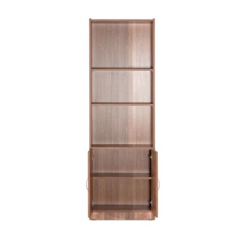 רהיטי יראון דגם 612 - ספריה 5 מדפים ו2 דלתות.