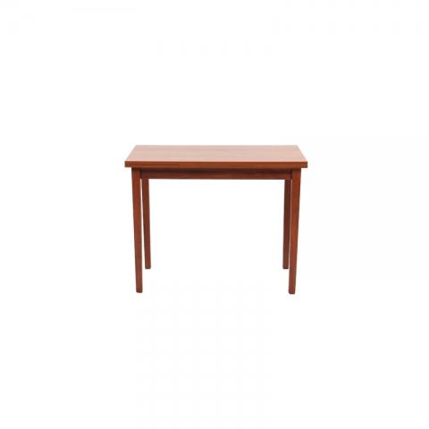 שולחן מטבח עץ דגם יניב G2 רגל ברזל 80*60 סמ.( ללא כסאות)
