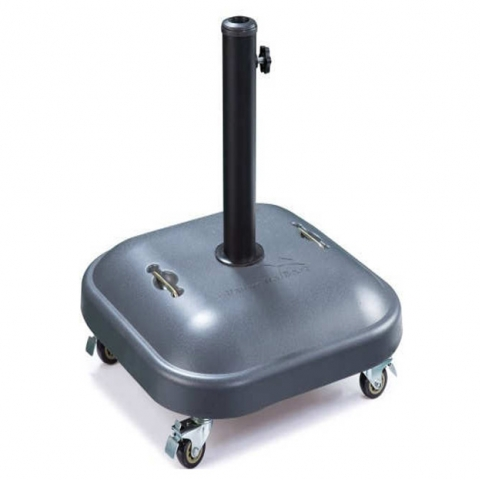 בסיס בטון 25  קילו מתאים לשמשיה עד 50 ממ כולל גלגלים