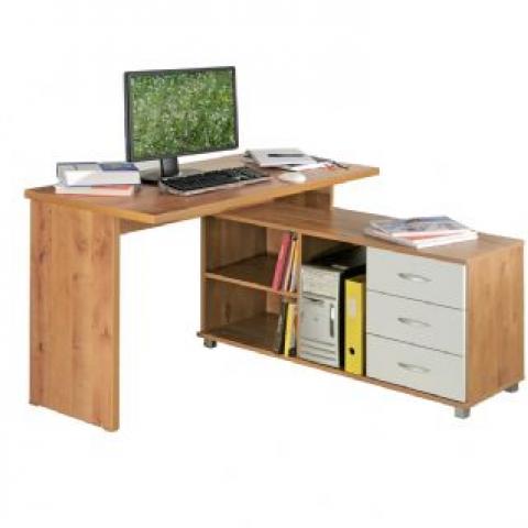 רהיטי יראון דגם 229 - שולחן מחשב פינתי מהודר.